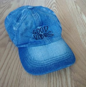 """Good Vibes"" denim at"
